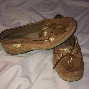 Gold Eyelet Sperry's
